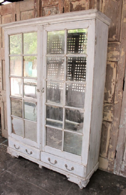 Antique Mirrored Apothecary Cupboard, Gujarat <b>SOLD<b>